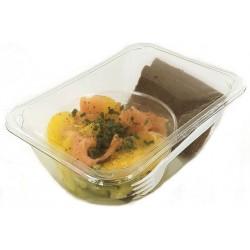 Salade avocat, agrumes et saumon