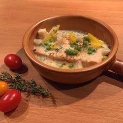 Filet de saumon aux légumes