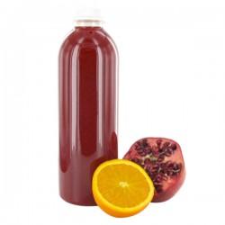 Jus d'orange et grenade frais pressé